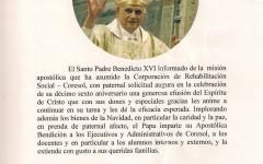 Bendición Apostólica de Benedicto XVI