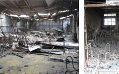 Liceo Caupolicán en Concepción Incendiado en Motín