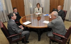 Reunión de Trabajo con el Minstro de Justicia Sr. Felipe Bulnes