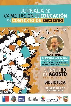 Liceo organiza junto a DEPROV y Universidad de Antofagasta, la Primera jornada de Capacitación en Educación en Contexto de encierro punitivo.